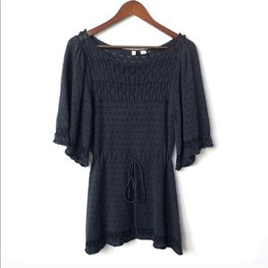 Anthropologie moth blue knitted blouse